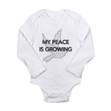 My Peace Is Growing Long Sleeve Infant Bodysuit