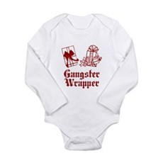 Gangster Wrapper Long Sleeve Infant Bodysuit
