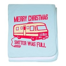 Merry Christmas, Shitter Was baby blanket
