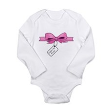 Open Me First Long Sleeve Infant Bodysuit