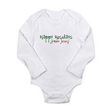 Happy Holidays from Jesus Long Sleeve Infant Bodys
