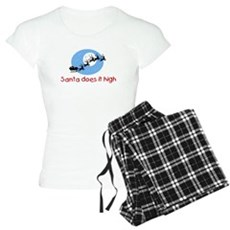 Santa does it high Womens Light Pajamas