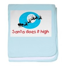 Santa does it high baby blanket