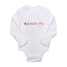 Santa's Ho Long Sleeve Infant Bodysuit