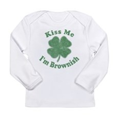 Kiss Me I'm Brownish Long Sleeve Infant T-Shirt