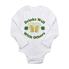 Drinks Well With Others Long Sleeve Infant Bodysui