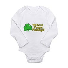 Who's Your Paddy? Long Sleeve Infant Bodysuit