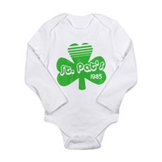 Retro St. Pat's Long Sleeve Infant Bodysuit