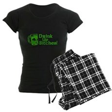 Drink Up Bitches! Womens Dark Pajamas
