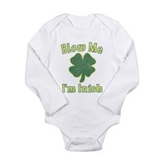 Blow Me I'm Irish Long Sleeve Infant Bodysuit