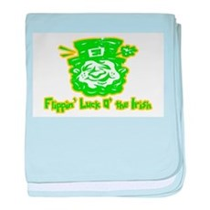 Flippin' Luck O' the Irish baby blanket