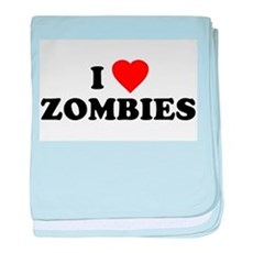I Love [Heart] Zombies baby blanket