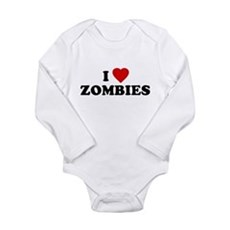 I Love [Heart] Zombies Long Sleeve Infant Bodysuit