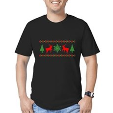 Ugly Christmas Sweater Mens Fitted Dark T-Shirt