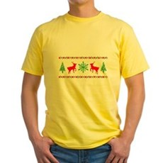 Ugly Christmas Sweater Yellow T-Shirt