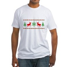 Ugly Christmas Sweater Fitted T-Shirt