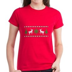 Ugly Christmas Sweater Womens T-Shirt