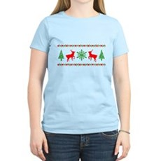 Ugly Christmas Sweater Womens Light T-Shirt