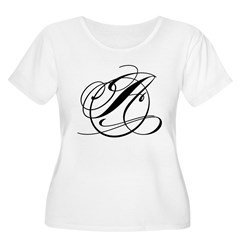 Circle A Women's Plus Size Scoop Neck T-Shirt