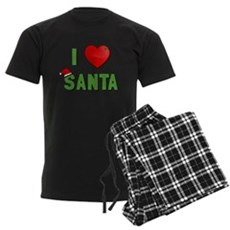 I Love Santa Mens Dark Pajamas