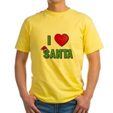 I Love Santa Yellow T-Shirt