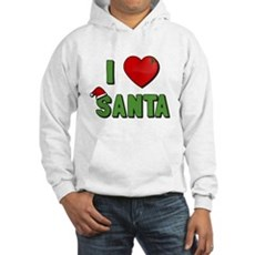 I Love Santa Hooded Sweatshirt