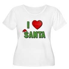 I Love Santa Plus Size Scoop Neck Shirt