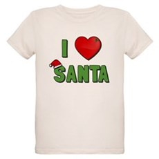 I Love Santa Organic Kids T-Shirt
