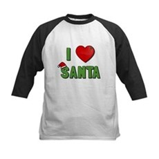 I Love Santa Kids Baseball Jersey