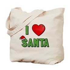 I Love Santa Tote Bag
