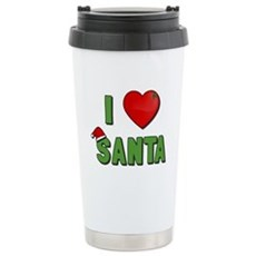 I Love Santa Stainless Steel Travel Mug