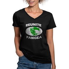 Reunite Pangea Women's V-Neck Dark T-Shirt