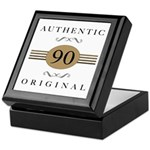 Authentic 90th Birthday Keepsake Box