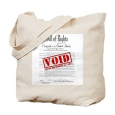 Voided Bill of Rights NDAA Tote Bag