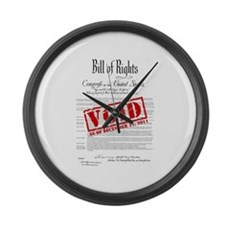 Voided Bill of Rights NDAA Large Wall Clock