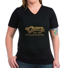 Cheers Womens V-Neck T-Shirt