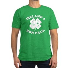 Ireland 4 Ron Paul Mens Fitted Dark T-Shirt