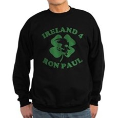 Ireland 4 Ron Paul Dark Sweatshirt