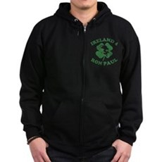 Ireland 4 Ron Paul Zip Dark Hoodie