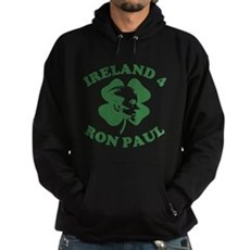 Ireland 4 Ron Paul Dark Hoodie