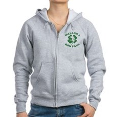 Ireland 4 Ron Paul Womens Zip Hoodie