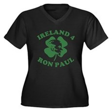Ireland 4 Ron Paul Womens Plus Size V-Neck Dark T