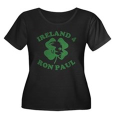 Ireland 4 Ron Paul Womens Plus Size Scoop Neck Da