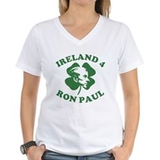 Ireland 4 Ron Paul Womens V-Neck T-Shirt