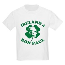 Ireland 4 Ron Paul Kids Light T-Shirt