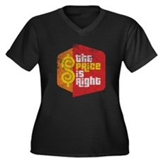 The Price Is Right Womens Plus Size V-Neck Dark T