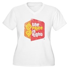 The Price Is Right Womens Plus Size V-Neck T-Shir