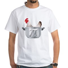 Chicken Pot Pi White T-Shirt