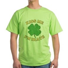 Kiss Me I'm Irate Green T-Shirt