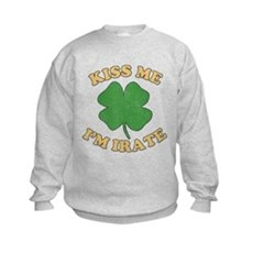 Kiss Me I'm Irate Kids Sweatshirt